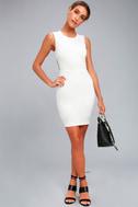 Hey Honey White Backless Bodycon Dress 1