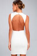 Hey Honey White Backless Bodycon Dress 3