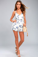 More Than Words White Embroidered Romper 1