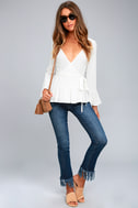 Great Expectations White Wrap Top 1