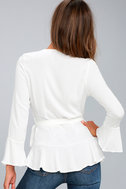 Great Expectations White Wrap Top 3
