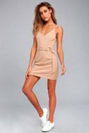 Belt it Out Nude Mini Dress 1