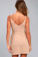 Belt it Out Nude Mini Dress 3