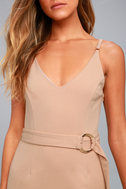 Belt it Out Nude Mini Dress 4