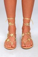 Steve Madden Jupiter Gold Lace-Up Sandals 2