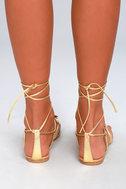 Steve Madden Jupiter Gold Lace-Up Sandals 4