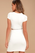 By Your Side White Two-Piece Dress 3