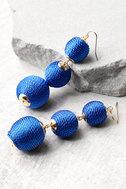 Dawn Days Royal Blue Earrings 1