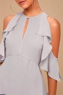 Stylishly Chic Grey Top 4