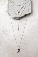 Walk This Way Silver Layered Necklace 1