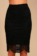 Keep it Moving Black Lace Pencil Skirt 4