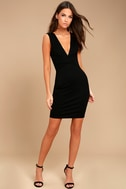 Glam Affair Black Bodycon Dress 1