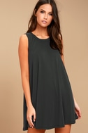 Chasing Sunshine Charcoal Grey Swing Dress 2