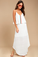PPLA Lalo White Embroidered Maxi Dress 1