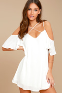 Afterglow White Shift Dress 1
