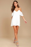 Afterglow White Shift Dress 2