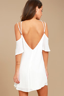 Afterglow White Shift Dress 3