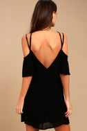 Afterglow Black Shift Dress 3