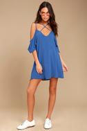 Afterglow Royal Blue Shift Dress 1