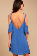 Afterglow Royal Blue Shift Dress 3