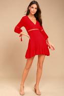 Love Letters Red Skater Dress 1