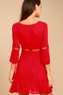 Love Letters Red Skater Dress 3