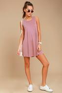 Chasing Sunshine Mauve Swing Dress 1