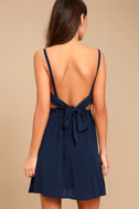 Here's to the Good Times Navy Blue Skater Dress 3