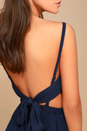 Here's to the Good Times Navy Blue Skater Dress 4