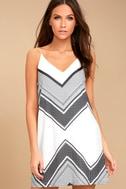 Always Artful White Print Shift Dress 2