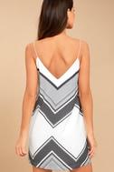Always Artful White Print Shift Dress 3