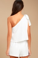 Destined for Chicness White One-Shoulder Romper 3