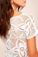Billabong Sun Catcher Cream Crochet Lace Crop Top 4