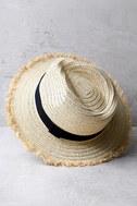 Tide Pools Beige Straw Hat 1