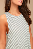 Billabong By and By Cream Striped Swing Dress 4