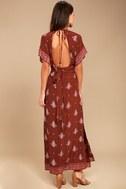 Faithfull the Brand Tuula Rust Red Print Maxi Dress 3