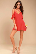 Afterglow Red Shift Dress 1