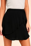 On the Sway Black Wrap Skirt 3