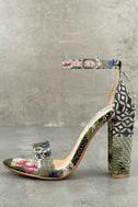 Steve Madden Carrson Bright Multi Ankle Strap Heels 1