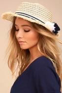 Yacht Club Beige Straw Hat 2