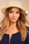 Yacht Club Beige Straw Hat 1