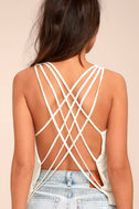 Back At It White Backless Tank Top 2