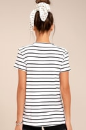 Amuse Society Tanner Black and White Striped Tee 3