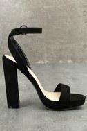 Katie Mae Black Suede Ankle Strap Heels 2