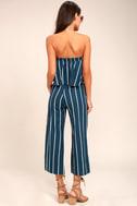 Faithfull the Brand Tomas Navy Blue Striped Culottes 4