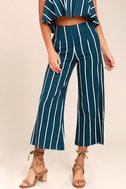 Faithfull the Brand Tomas Navy Blue Striped Culottes 1