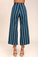 Faithfull the Brand Tomas Navy Blue Striped Culottes 5