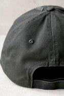 Block Party Dark Grey Distressed Baseball Cap 3