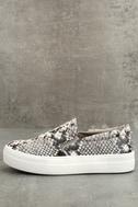 Steve Madden Gills Natural Snake Slip-On Sneakers 1