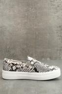 Steve Madden Gills Natural Snake Slip-On Sneakers 2